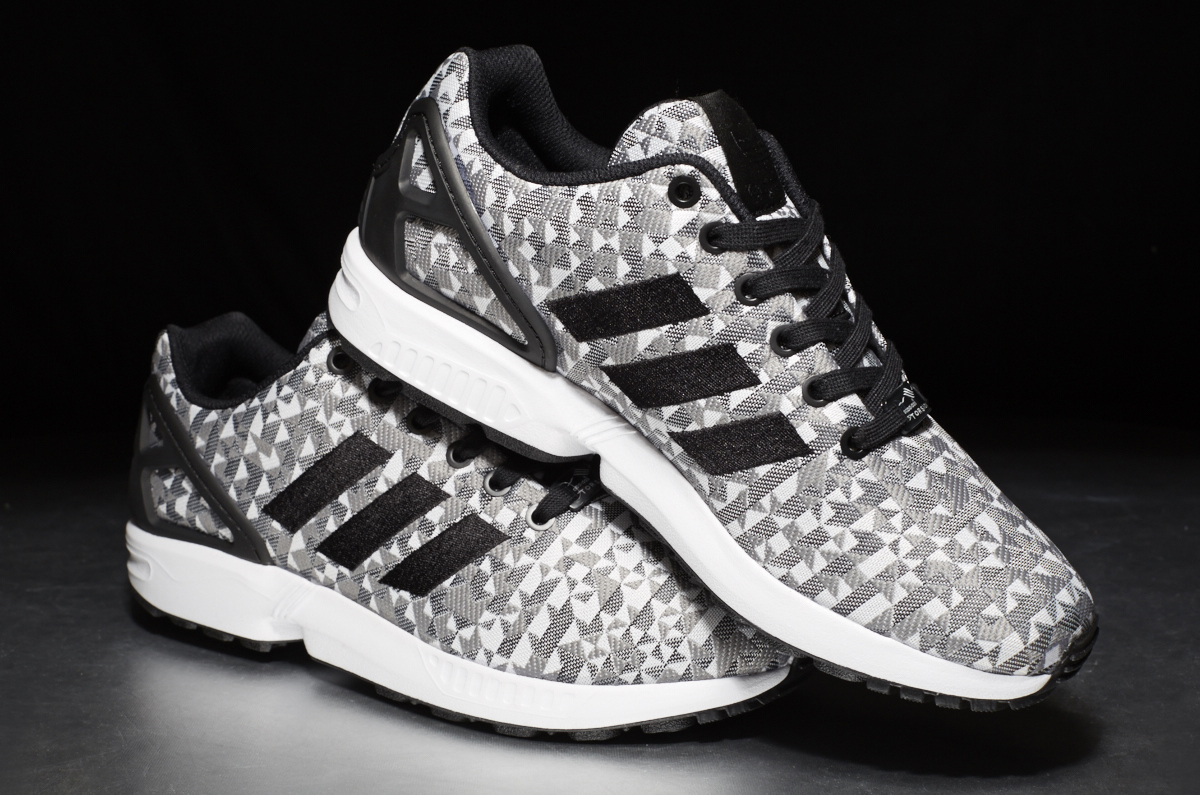 buy online 619e9 cd952 ... adidas ZX Flux Weave – black grey white