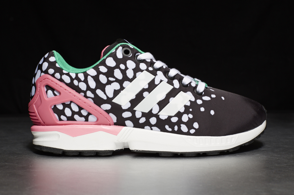 timeless design 6263f 602e1 ... adidas ZX Flux W – Core Black  Footwear White  Semi Solar Pink ...