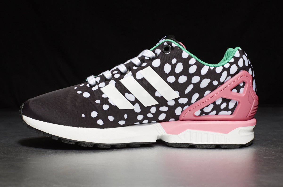 newest 5b9d3 dad5c adidas ZX Flux W – Core Black  Footwear White  Semi Solar Pink ...