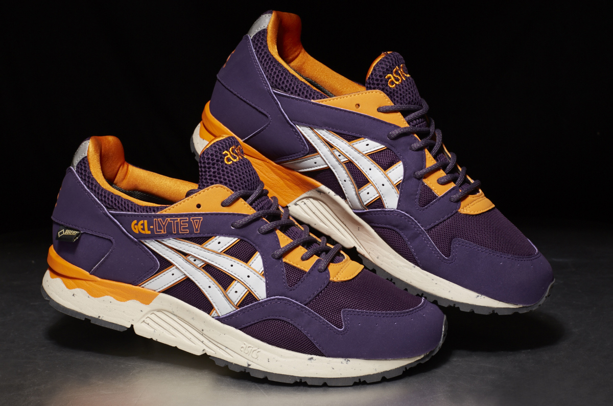 asics tiger gel lyte v gore tex purple soft grey stasp. Black Bedroom Furniture Sets. Home Design Ideas
