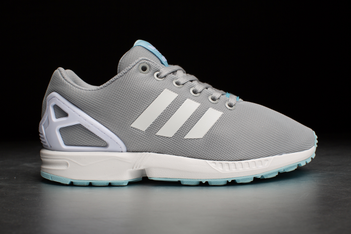 adidas originals zx flux gray and white