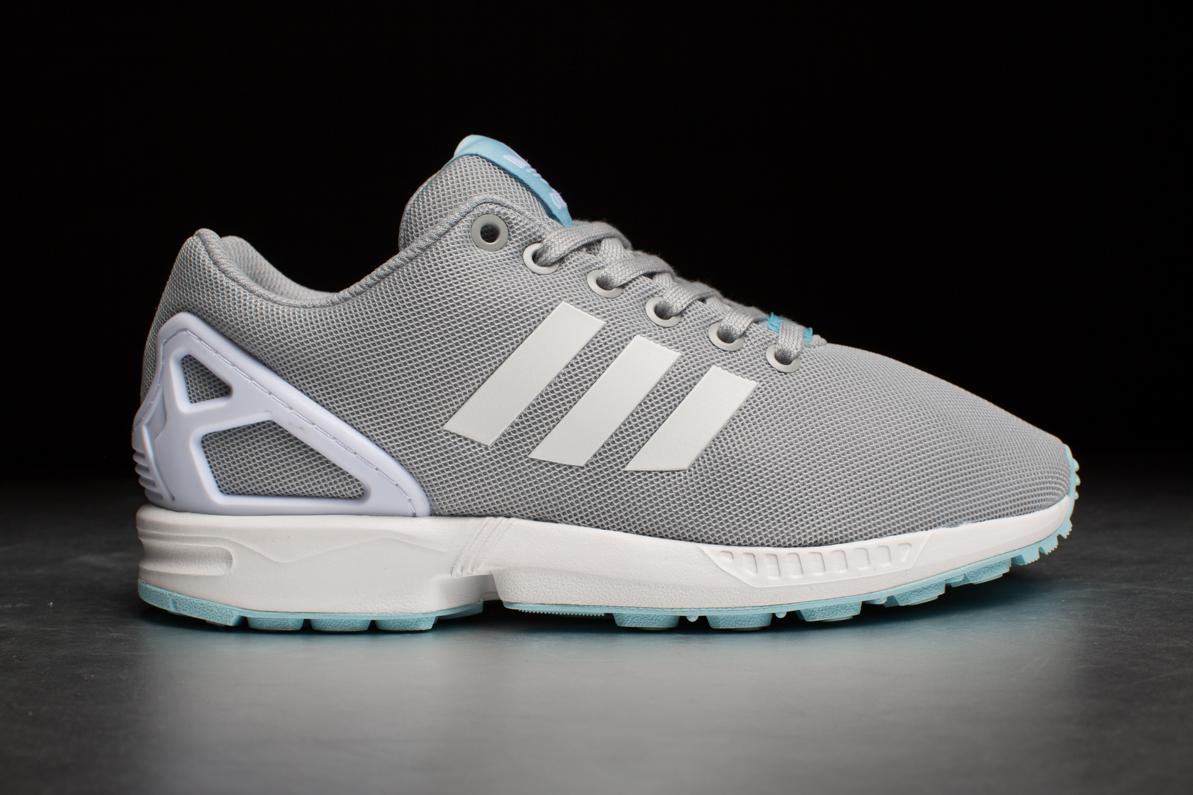 adidas originals zx flux grey and blue