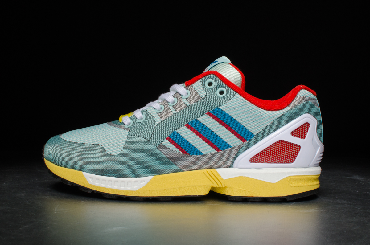 18209e077335 adidas Originals ZX Flux Weave – Hydra   Bold Aqua   Red – STASP