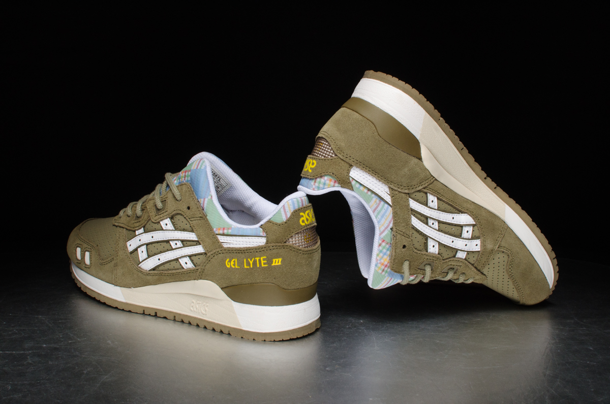"... Asics Wmns Gel-Lyte III ""Patchwork Pack"" – Light Olive/White"