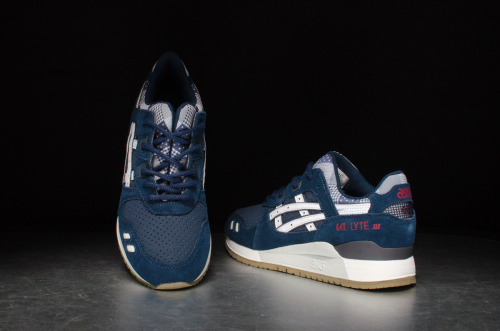 """Asics Wmns Gel-Lyte III """"Patchwork Pack"""" – Navy/White"""