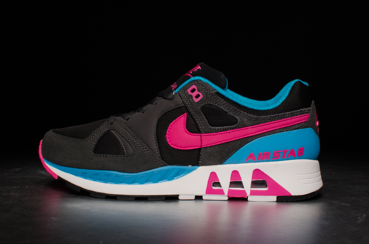 Nike Air Stab – Black Hot Pink Anthracite Blue Lagoon