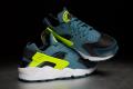 Nike Air Huarache – Black / Space Blue / Volt