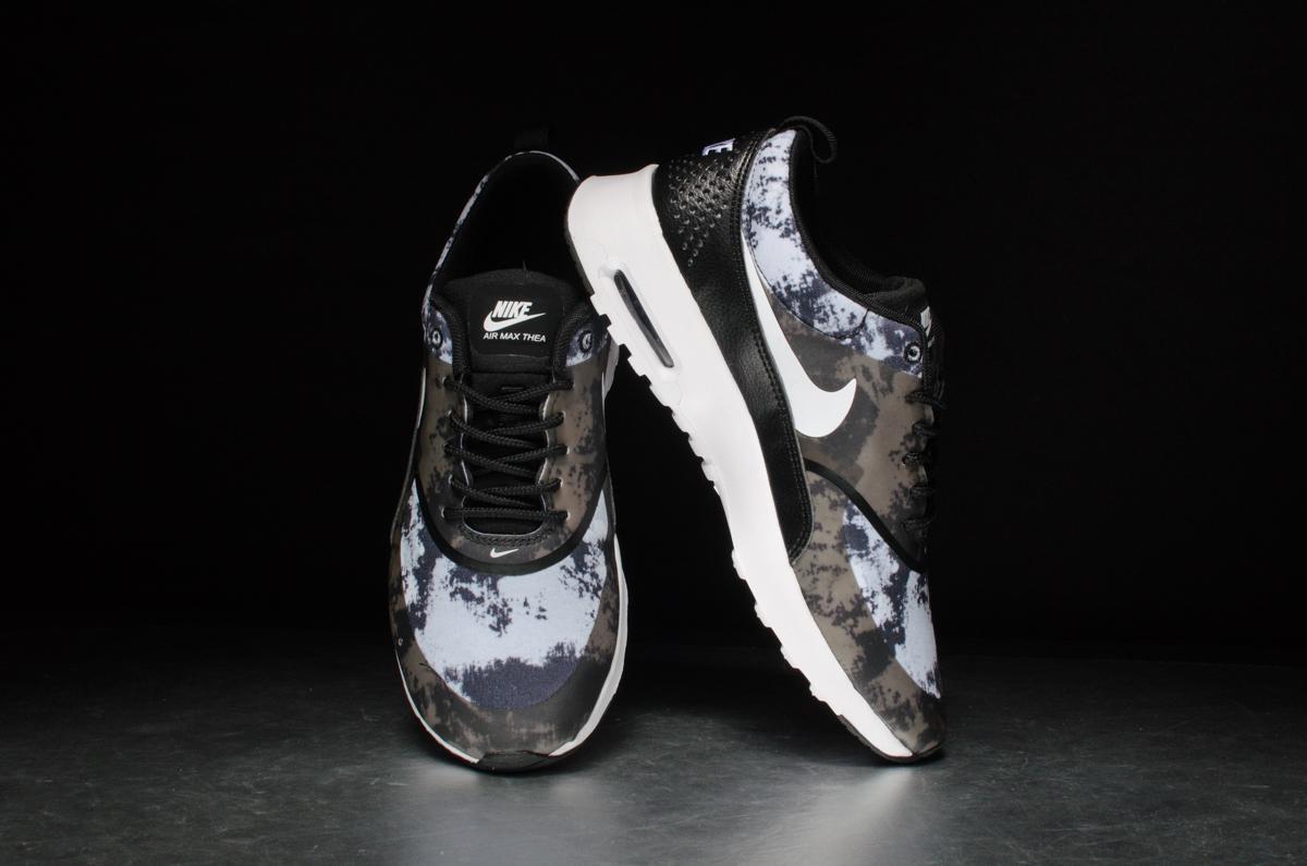 Nike Air Max Thea Impression Noir / Blanc / Gris Foncé mdO4fpu2