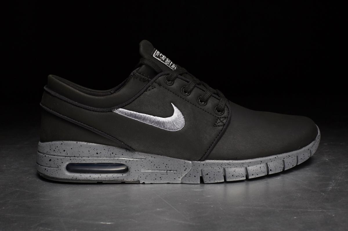 super cheap outlet store great look Nike SB Stefan Janoski Max L QS 'NYC' – Black / Cool Grey / Metallic Cool  Grey