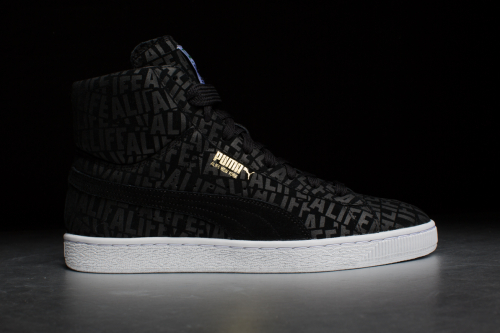 Puma Suede Mid X Stuck up X ALIFE – Black