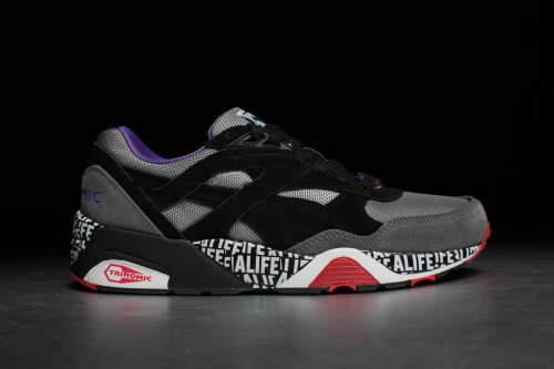 Puma R698 X Stuck up X ALIFE – Limestone Gray / Black Steel