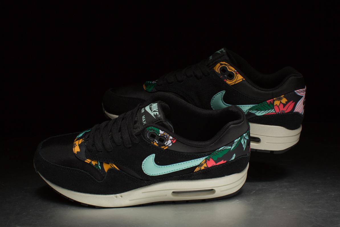 """de5827ee34 Nike Sportswear Wmns Air Max 1 Print """"Aloha"""" Pack – Black / Sail ..."""