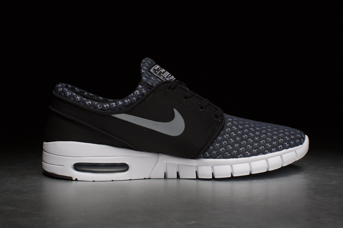 nike stefan janoski max black metallic cool grey. Black Bedroom Furniture Sets. Home Design Ideas