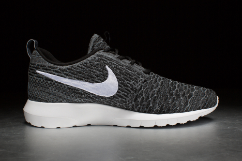 Nike Flyknit Rosherun – Black / White / Dark Grey / Clear Grey