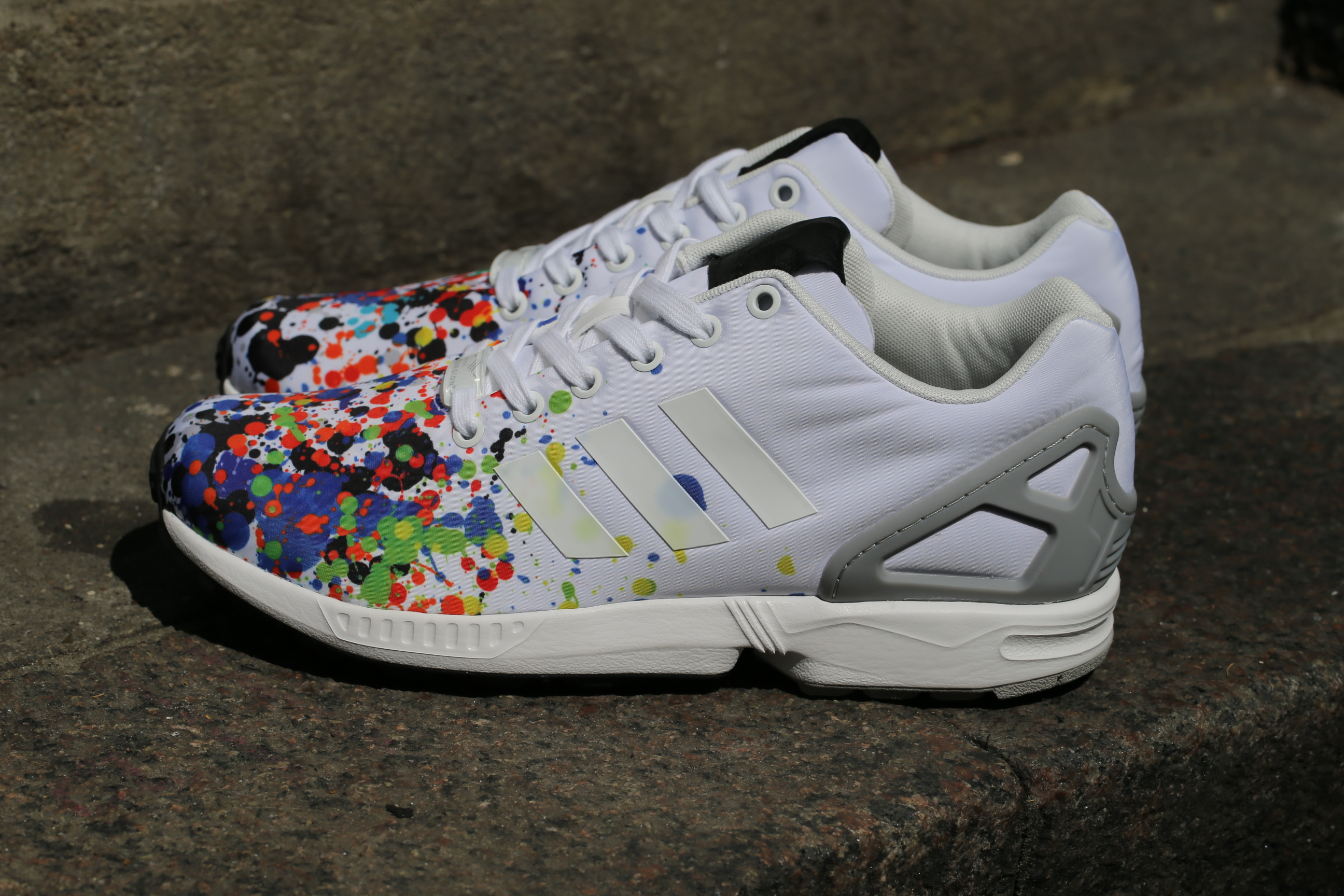 best service 88eaa 91109 ... on feet shots of 7aa1f 96ad5 adidas Originals ZX Flux – Ftwr White Ftwr  White Mgh ...