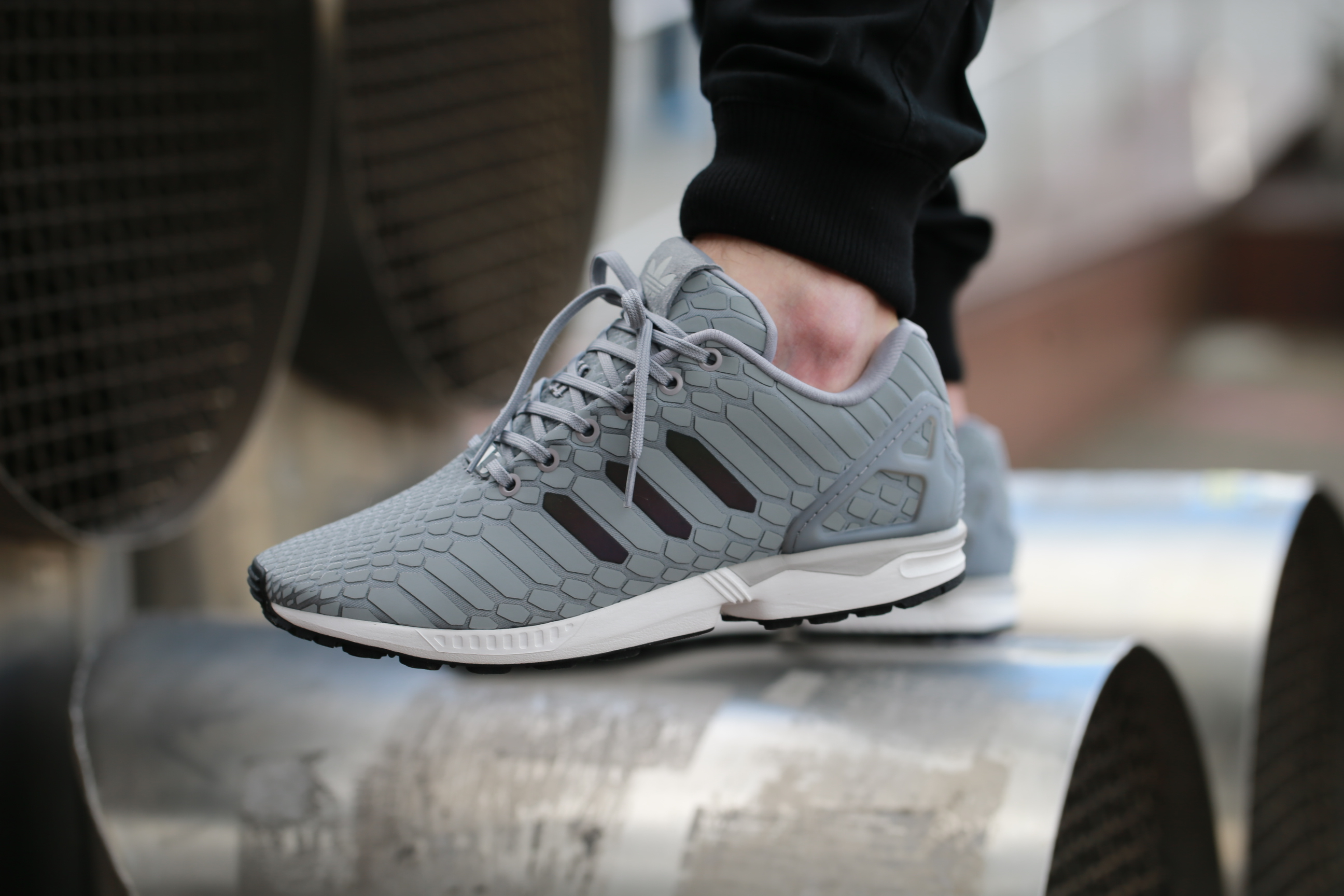 "on sale e4e98 88b28 adidas Originals ZX Flux ""Xeno"" – Light Onix   Supplier Color   Ftwr ..."