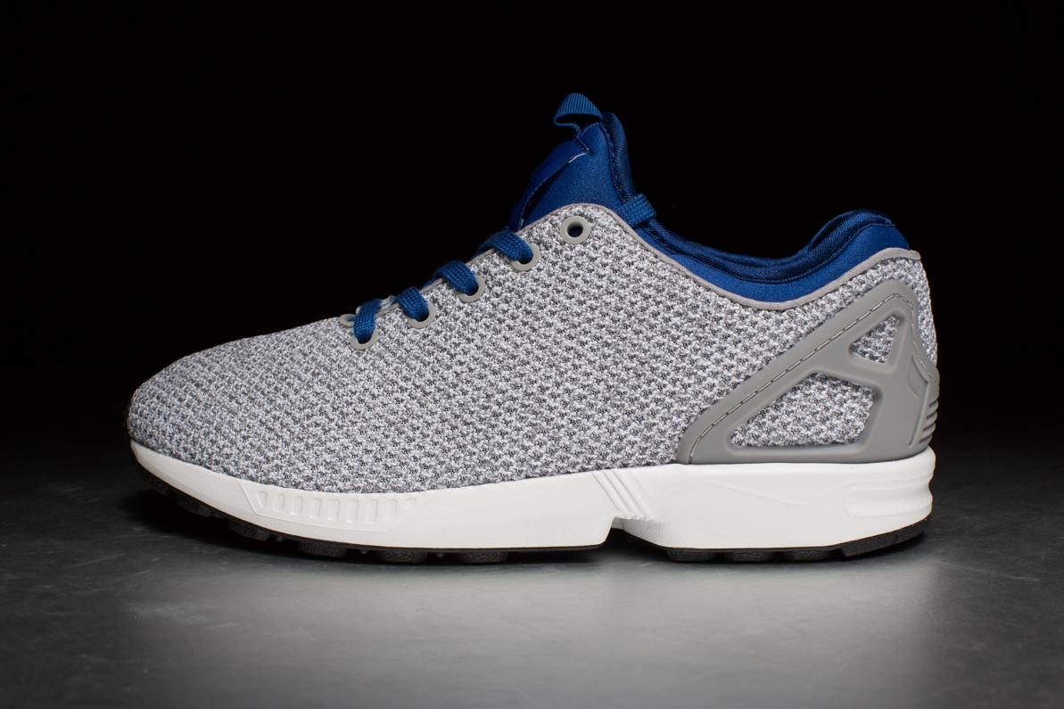 "free shipping e5637 7b3b5 adidas Originals ZX Flux NPS ""Premium Knit"" – Solid Grey / Solid Grey /  Collegiate Royal"