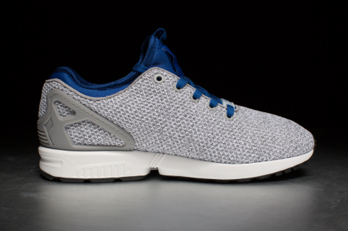 ZX Flux NPS x Size? 'Premium Knit Pack' – Solid Grey / Solid Grey / Collegiate Royal