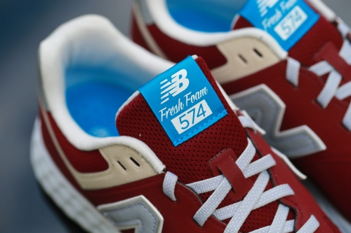 New Balance 574 Fresh Foam – Burgundy / Cream