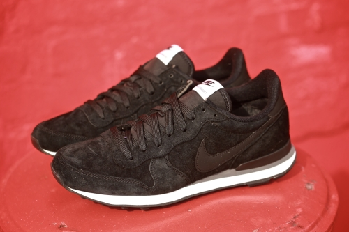 Nike Internationalist Leather – Black / Black / Dark Grey / White