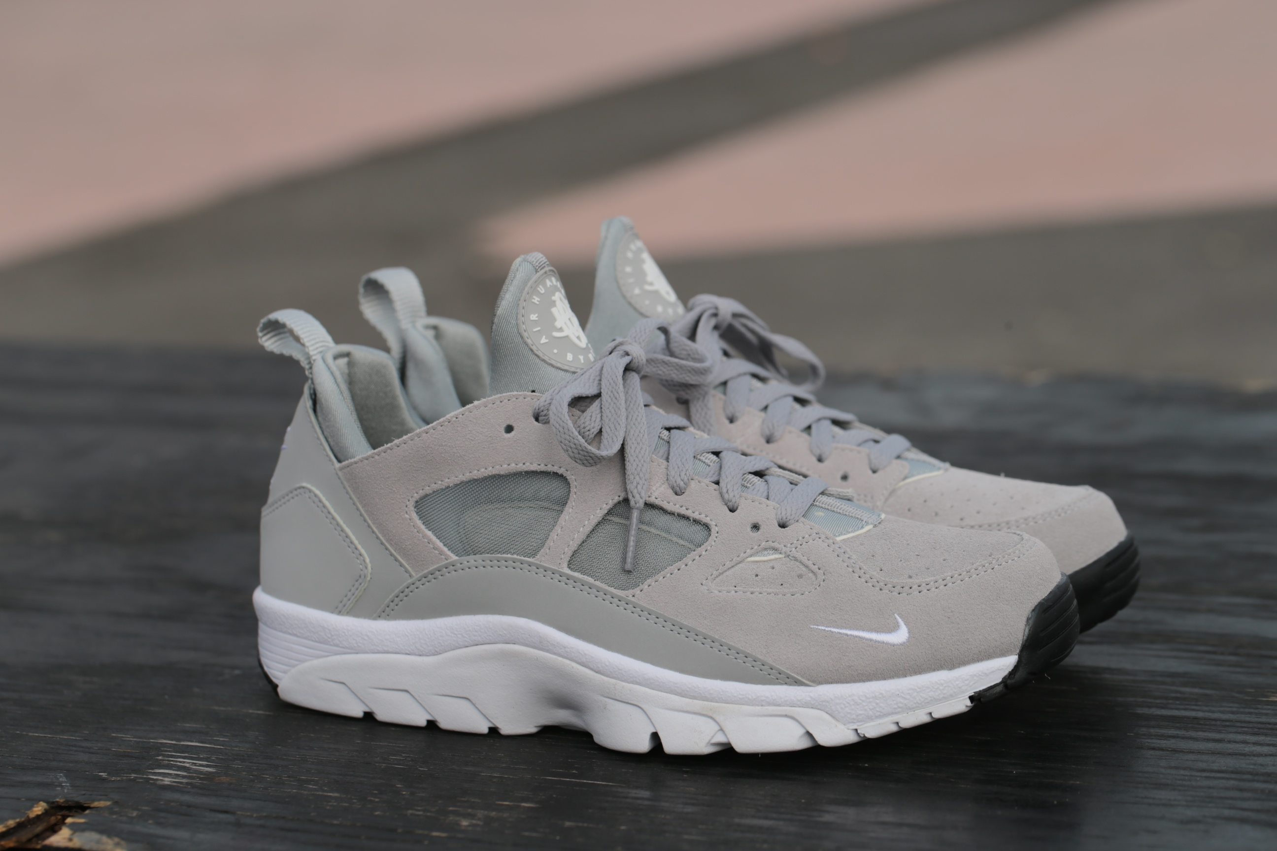 wholesale dealer 98212 619d2 Nike Air Trainer Huarache Low – Wolf Grey  Black  White – ST