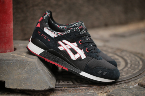 "ASICS Gel-Lyte III ""Bandana"" Pack – Black / White"