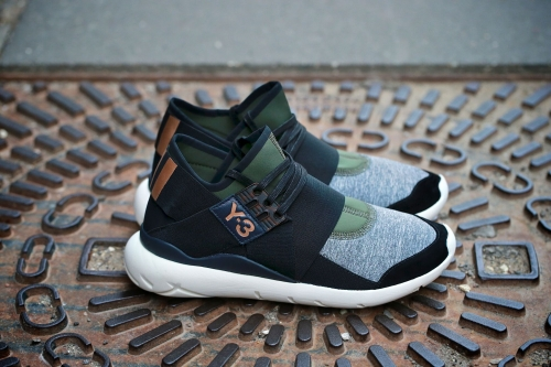adidas Y-3 Qasa Elle Lace - Night Cargo / Black / White