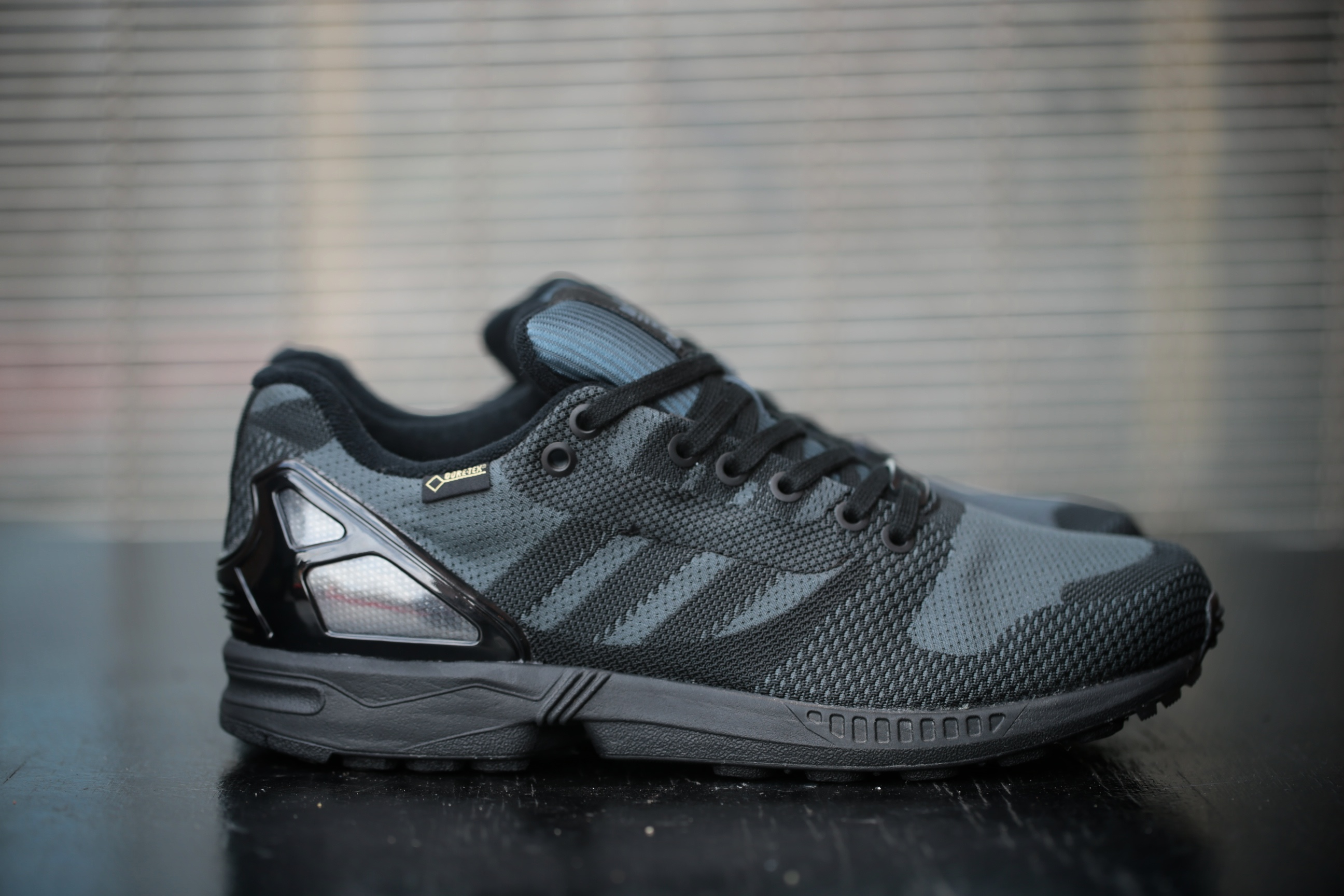 100% authentic e137d 873aa adidas Originals ZX Flux Weave OG GTX – Black   Black – STASP