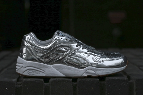 10adfd84cbd PUMA x ALIFE Trinomic R698 - Silver   White
