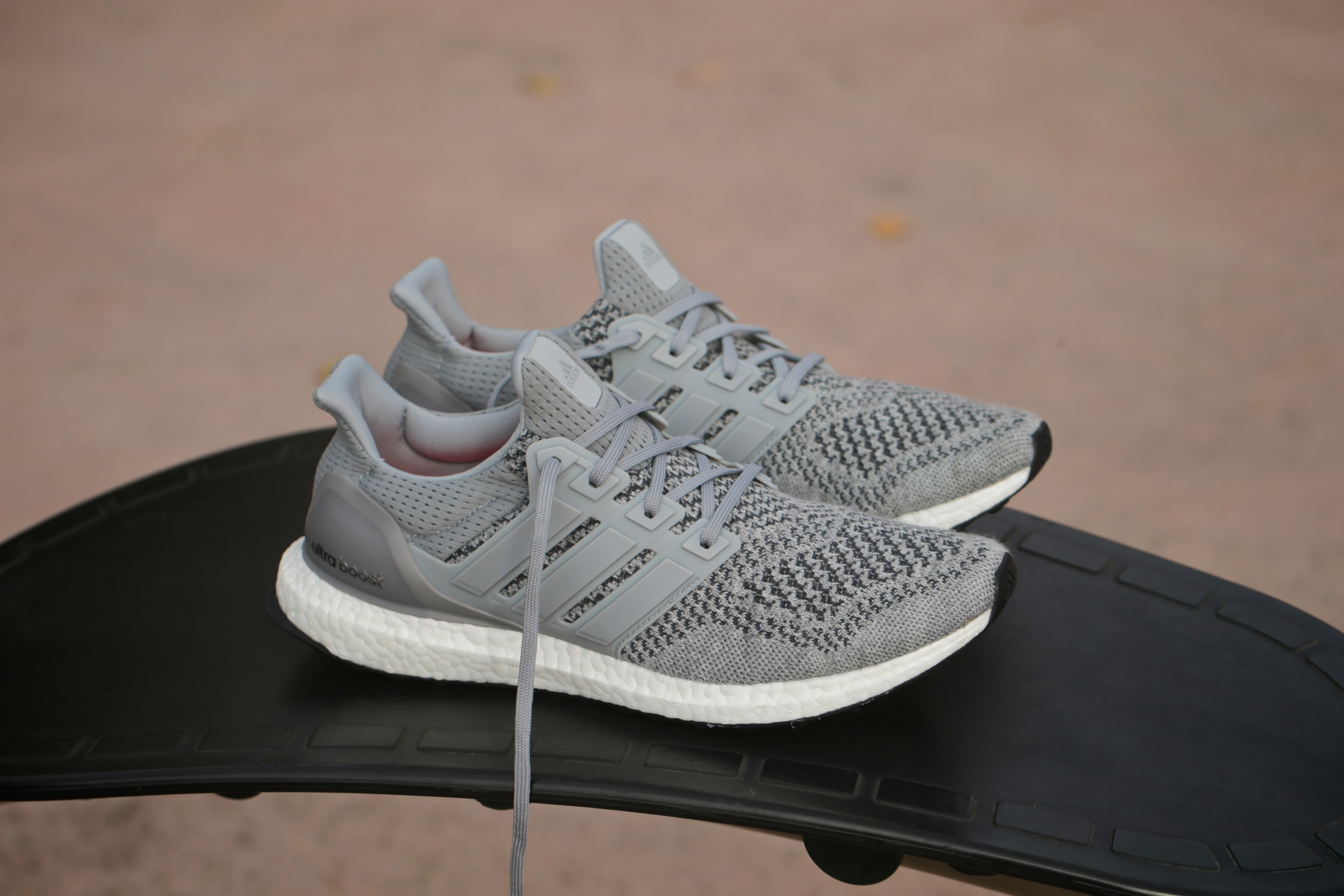Adidas Ultra Boost Grey Silver Metallic Solar Red