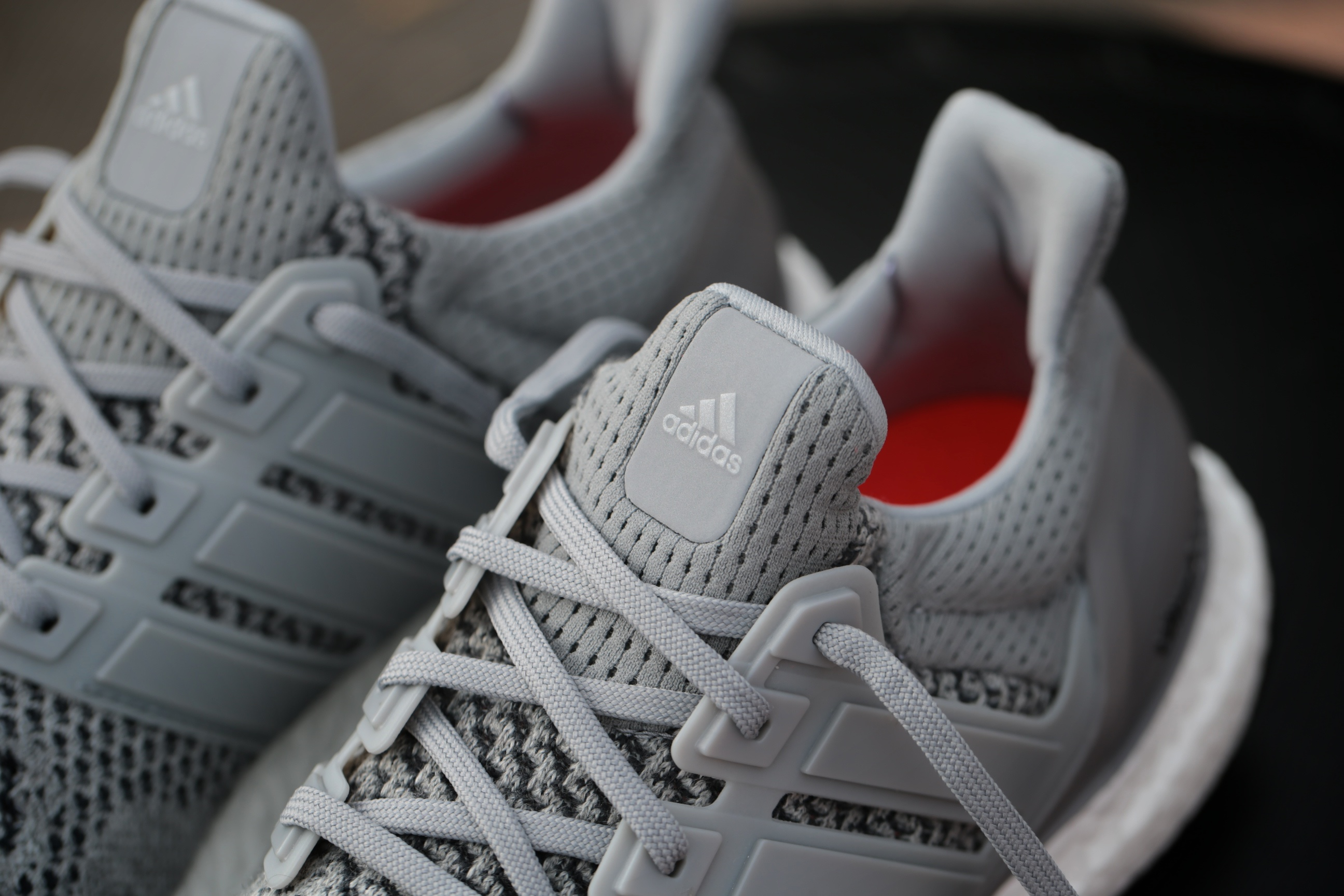 adidas Ultra Boost – Grey Silver Metallic Solar Red – STASP