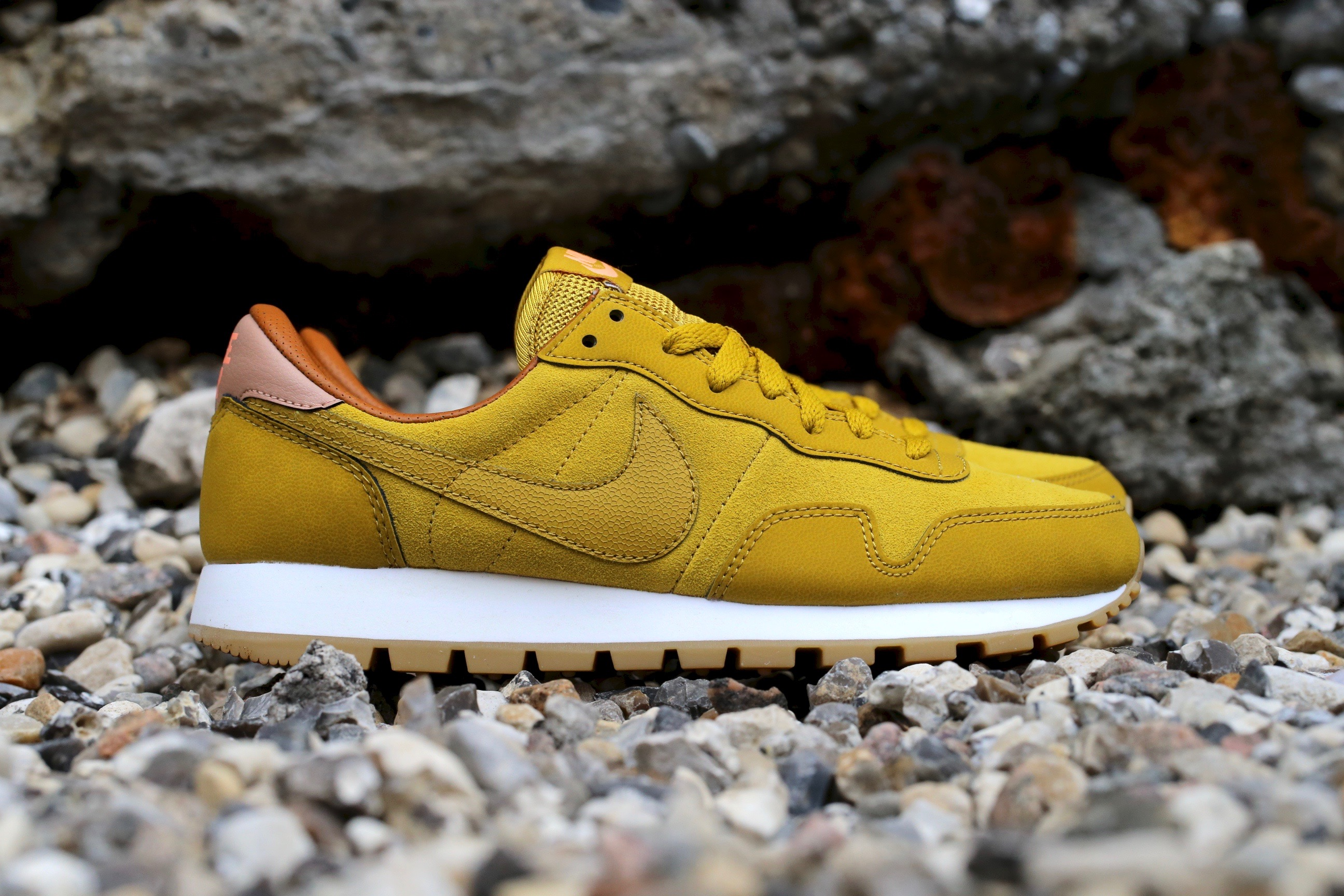 huge discount 84966 c47fb Nike Wmns Air Pegasus  83 Leather – Dark Citron   Sunset Glow ...