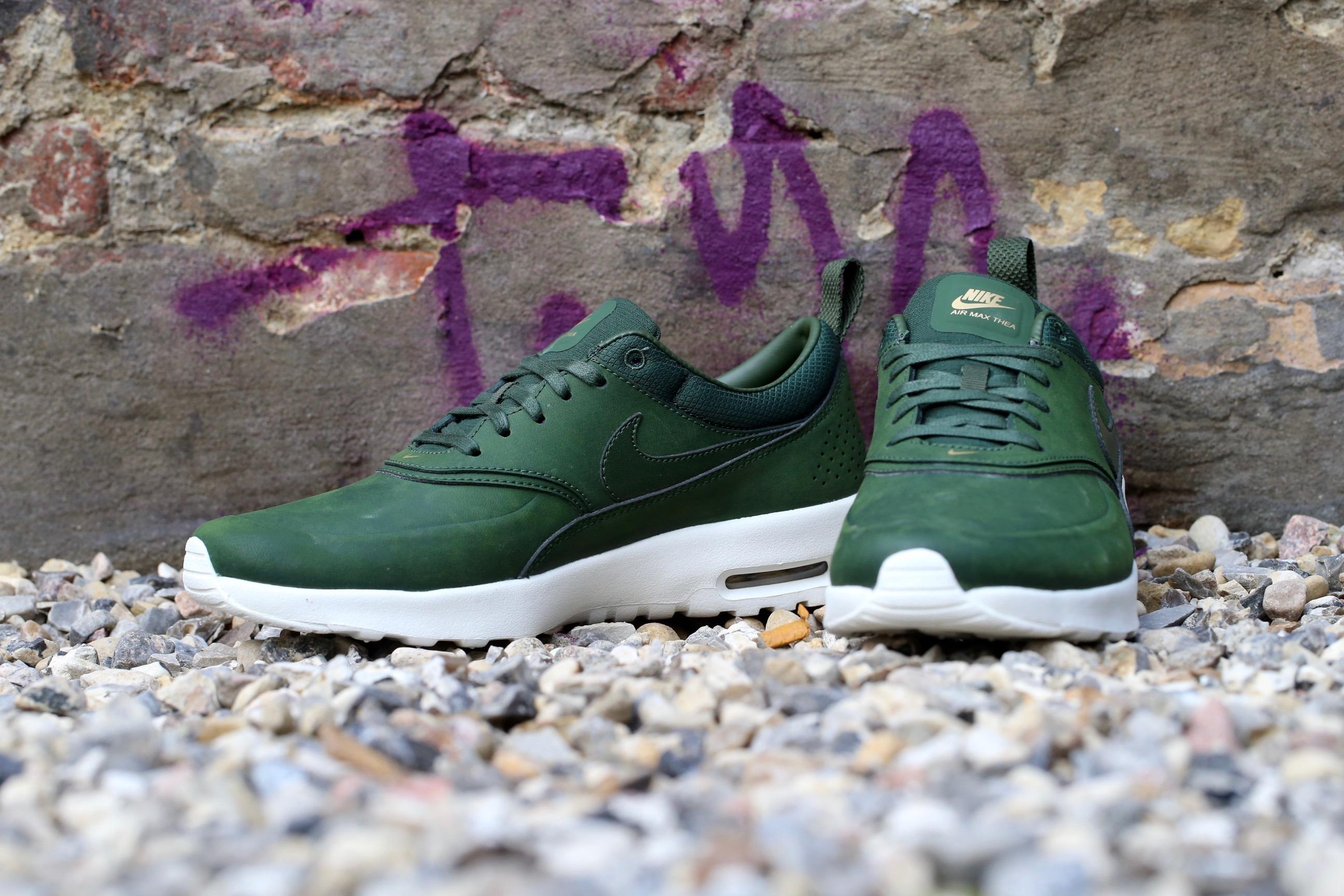 Nike Air Max Thea Premium Cuir Vert Blanc Vert vYG8mmZ