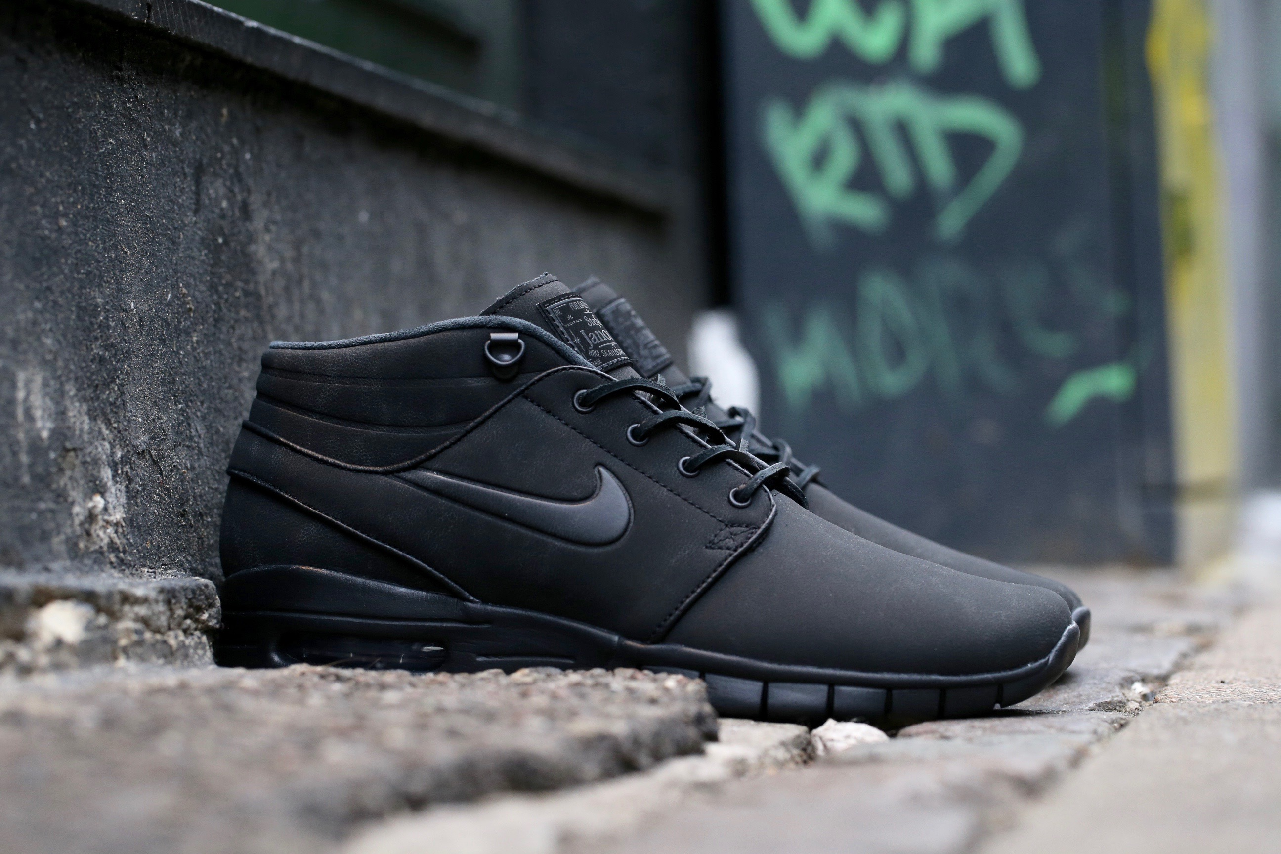nike sb stefan janoski max mid l black anthracite stasp. Black Bedroom Furniture Sets. Home Design Ideas