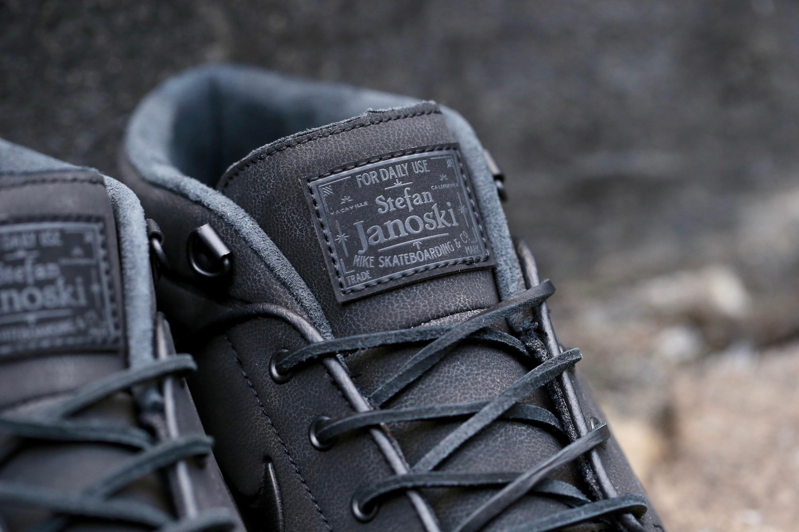 Nike Sb Stefan Janoski Max L De Cuero Negro KDSiFzler2