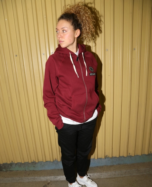 STASP. Good Zip Hoody - Burgundy