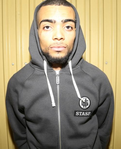 STASP. Good Zip Hoody - Dark Grey