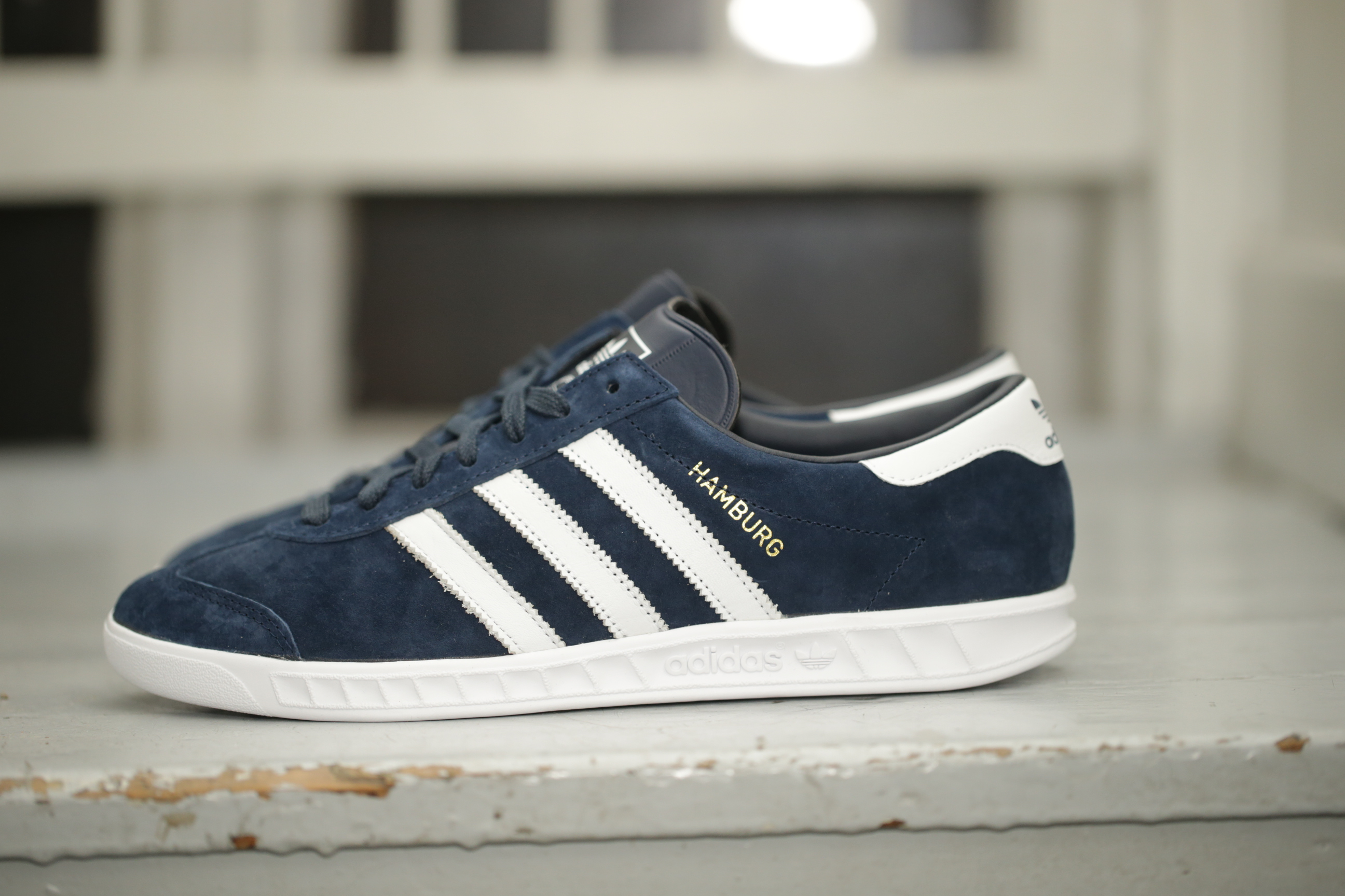 adidas Originals Hamburg – Collegiate Navy White – STASP