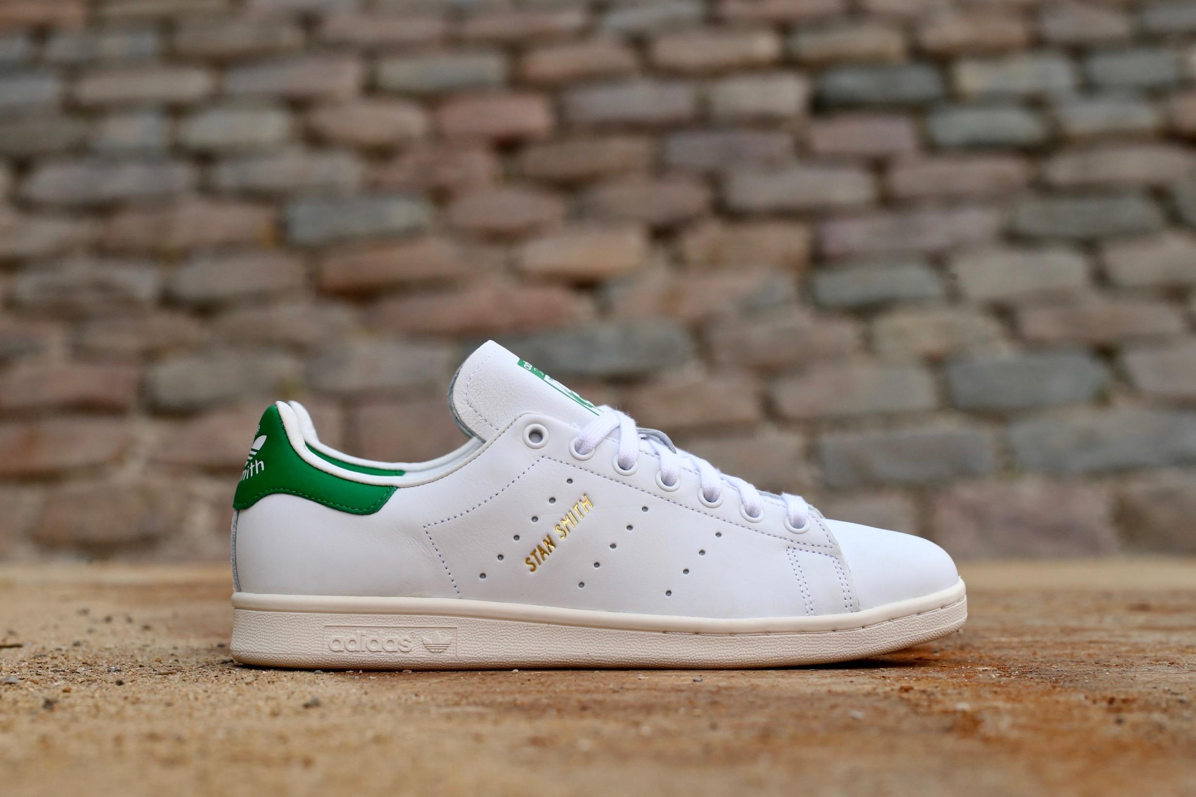 cheap for discount 1ec9c 611a8 adidas Originals Stan Smith – White   Green – STASP