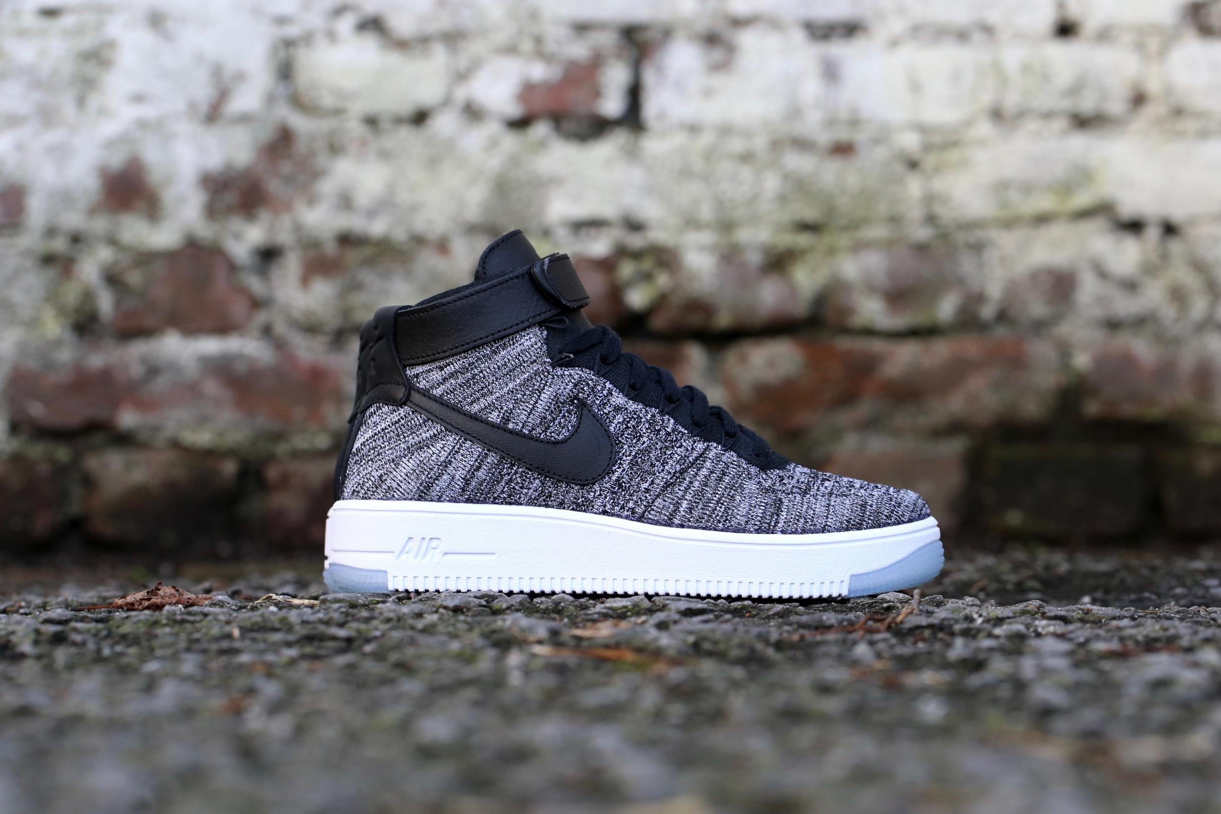 f033ba26c56e Nike W Air Force 1 Flyknit – Black   Black   White – STASP