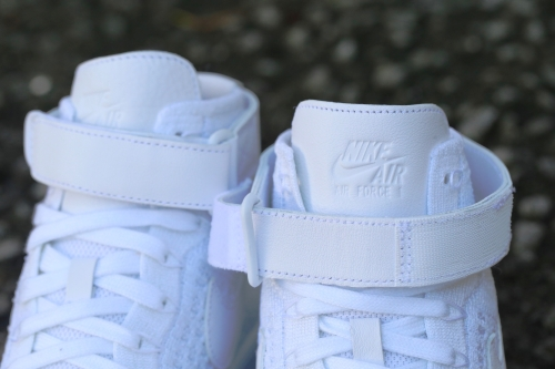 Nike W Air Force 1 Flyknit - White / White / Pure Platinum