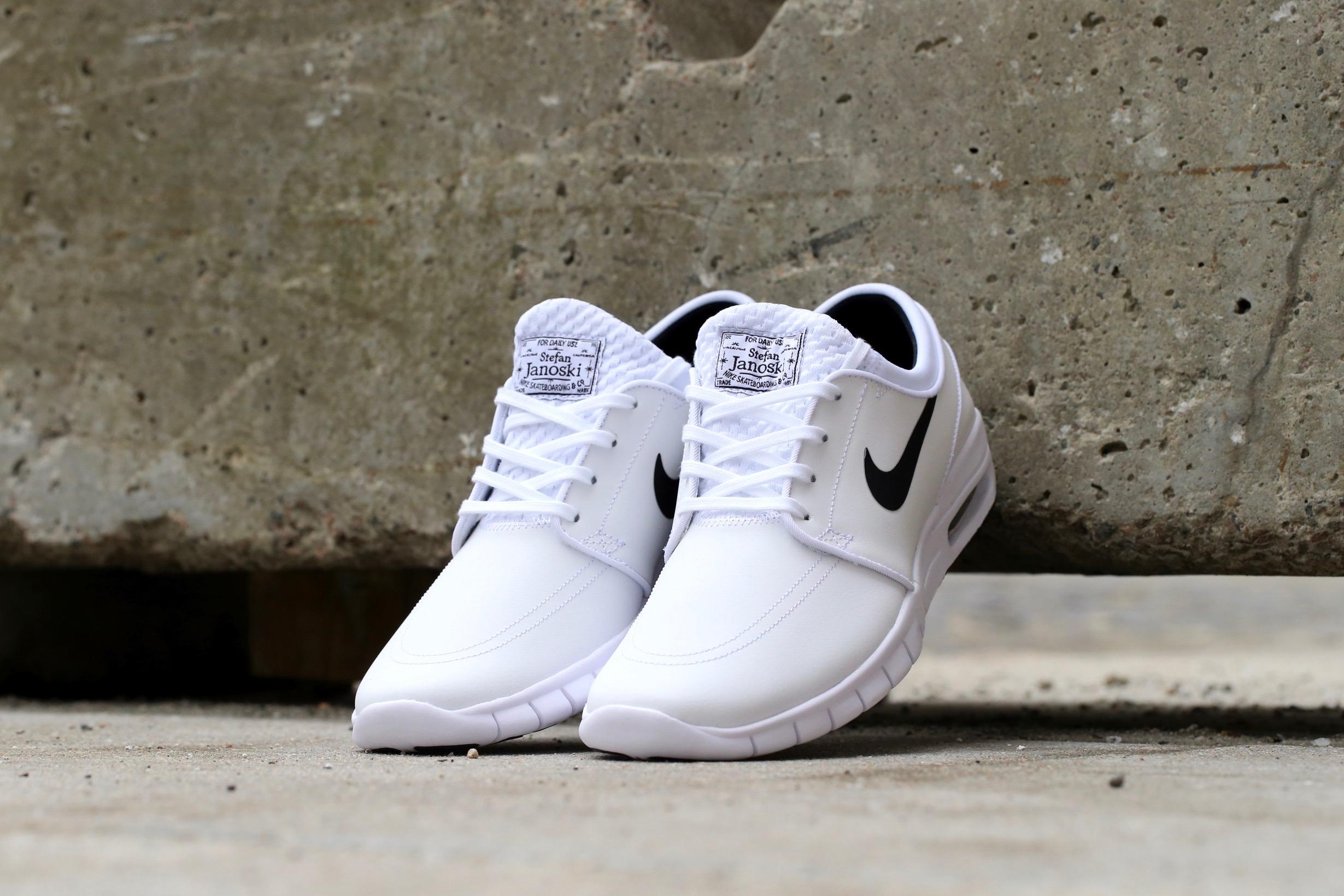 100% authentic fc144 d9e99 Nike SB Stefan Janoski Max L – White   Black – STASP