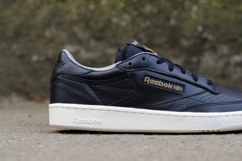 Reebok Club C 85 Perf - Black / Beach Stone / Chalk
