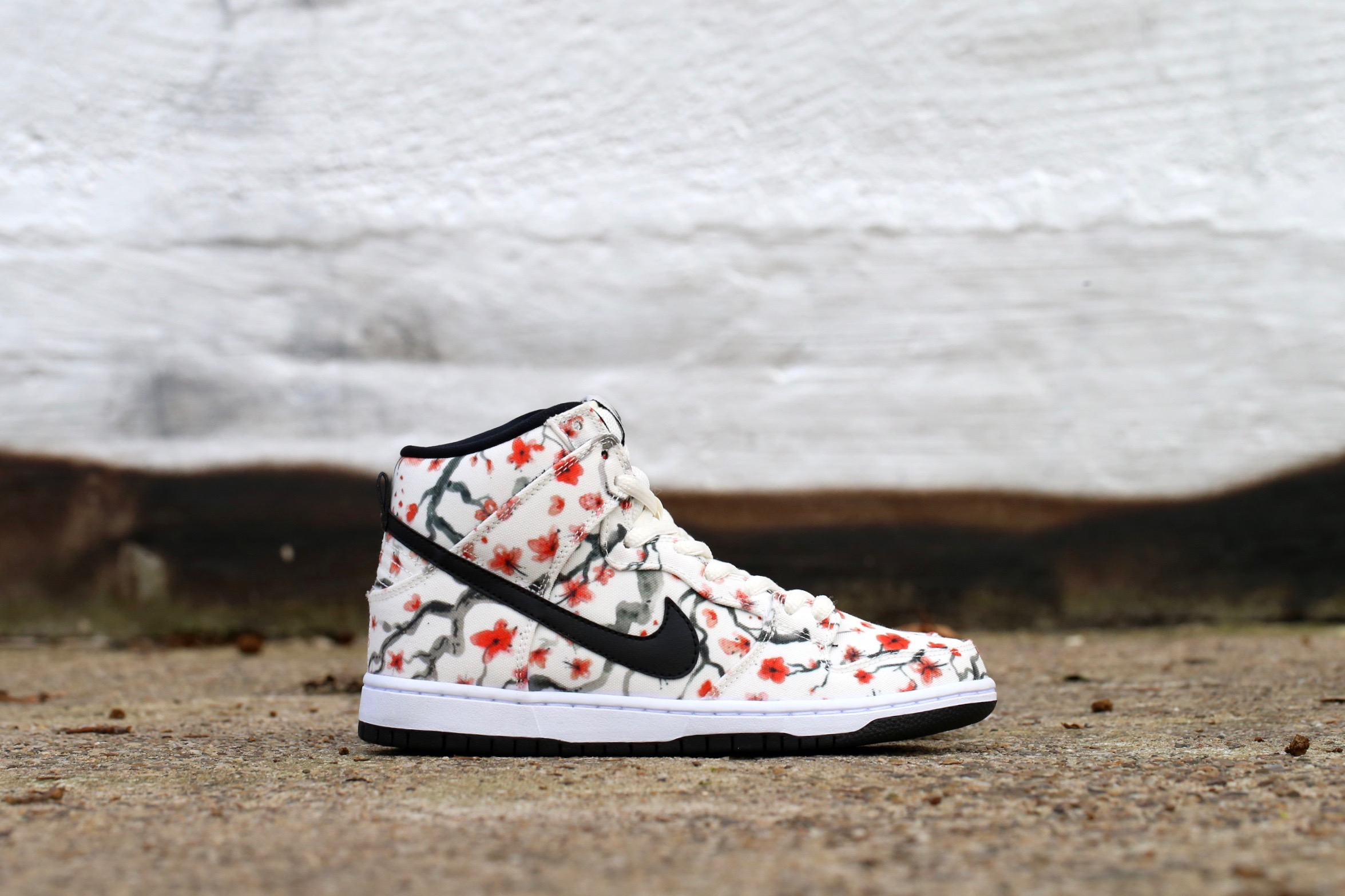 "4f4f9d53b17b Nike SB Dunk High Pro ""Cherry Blossom"" Pack – Sail   Light Crimson ..."