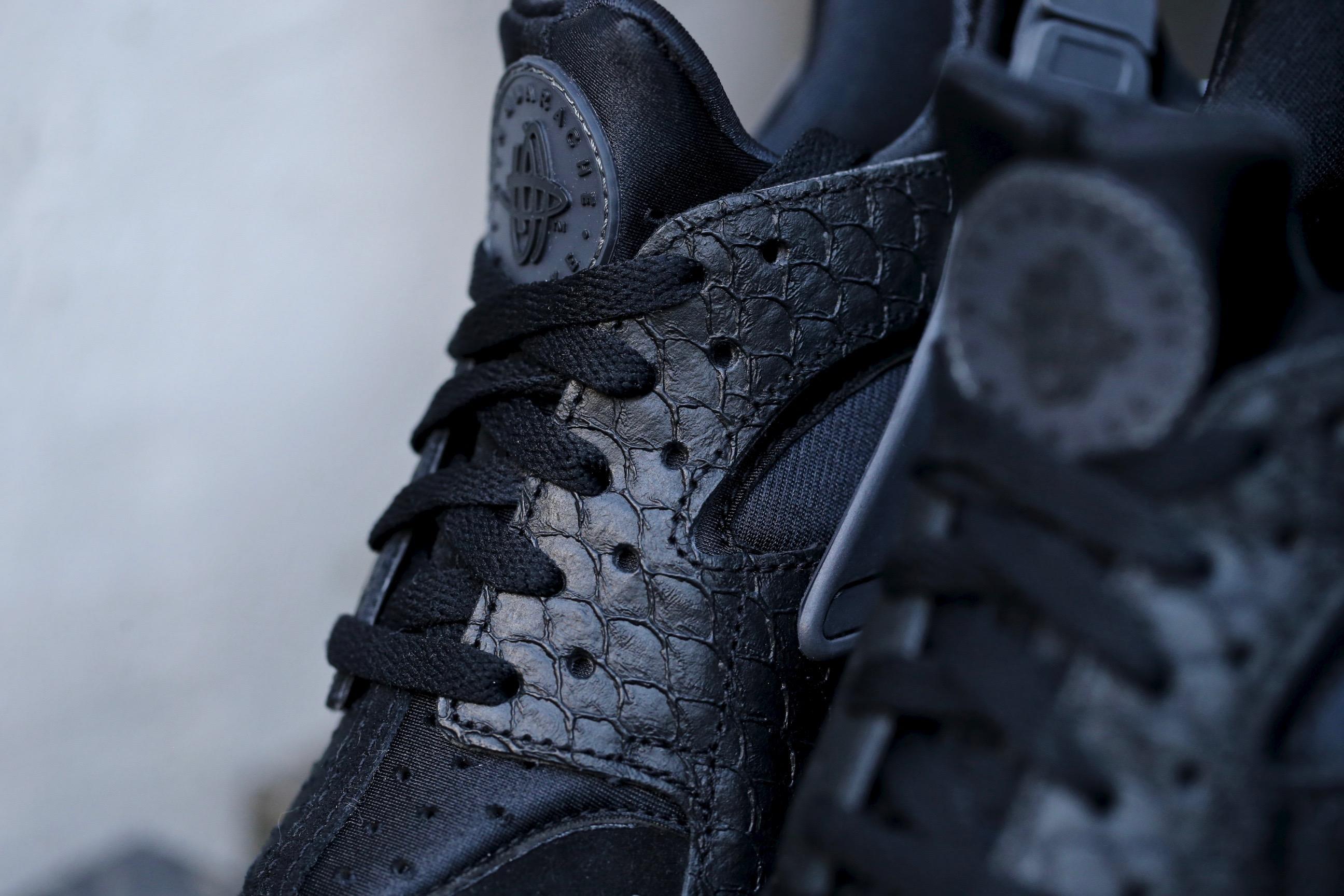 Nike Huarache Aria Run Prm Nero / Scuro Box Grigio-bianco 7Itt628U