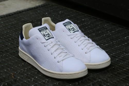 adidas Originals Stan Smith OG Primeknit - Ftwr White / Chalk White / Navy