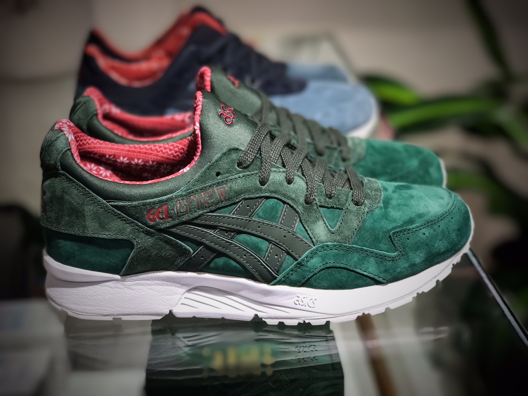 asics gel lyte 5 green