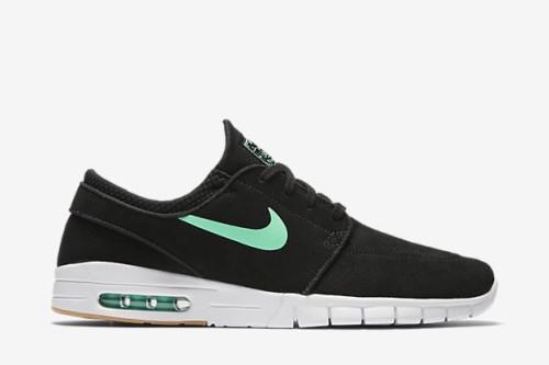 7144c0b7735 Nike SB Stefan Janoski Max L - Black   Green Glow   White