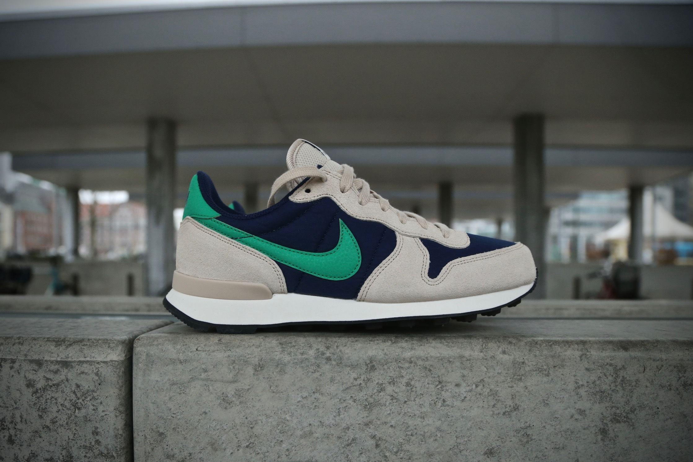 no sale tax wholesale dealer shoes for cheap Nike Wmns Internationalist – Binary Blue / Oatmeal / Sail ...