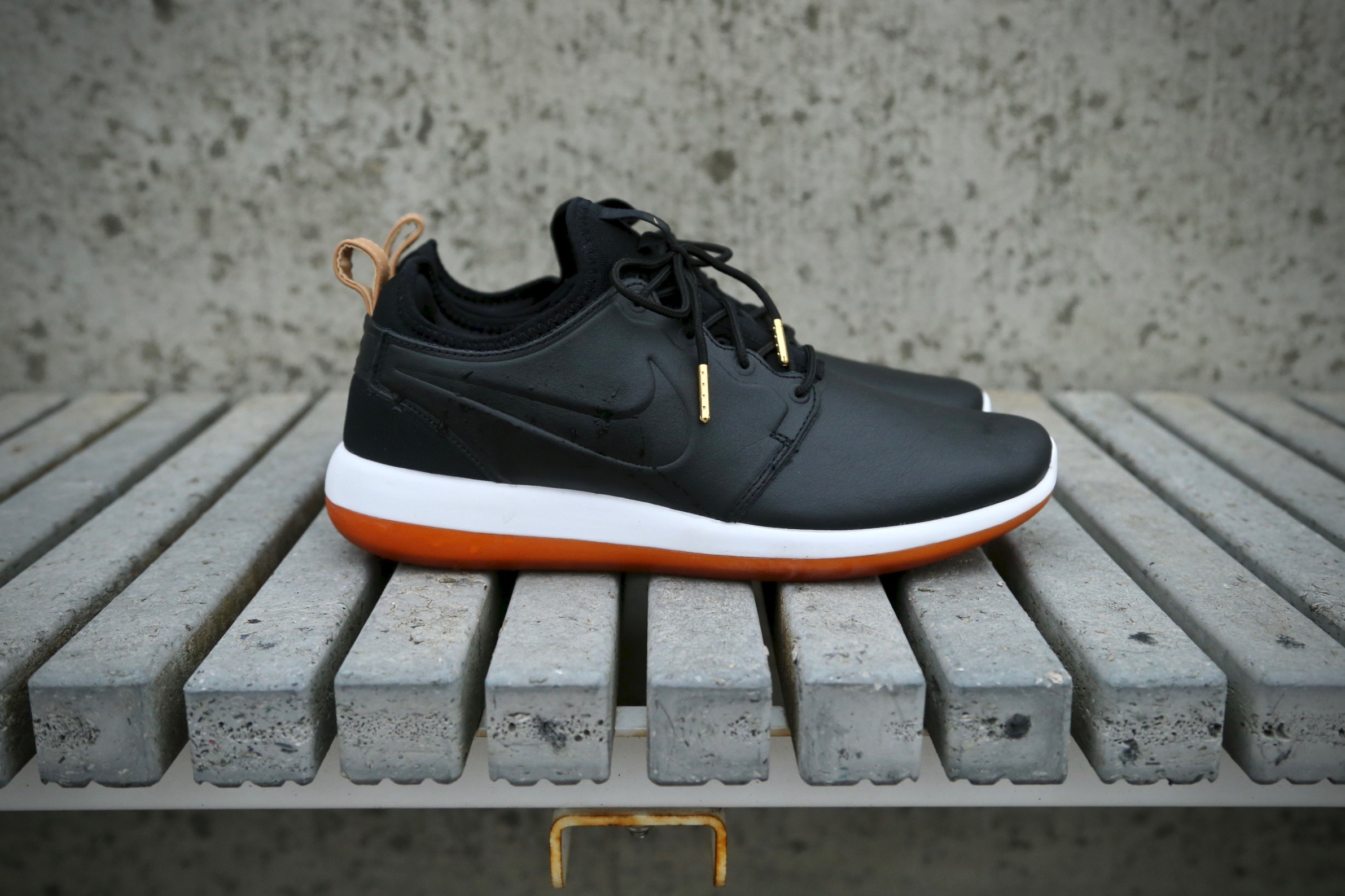 new concept 70c23 c90bc ... Nike Roshe Two Leather PRM – Black Black White – STASP ...
